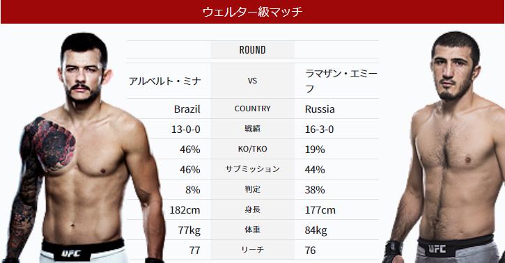 UFC224 勝敗予想⑫ 打撃力&勝利...